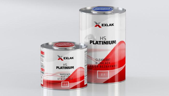 Exlak lakier bezbarwny clearcoat HS Platinium